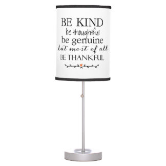 Sea bueno sea cita agradecida por citas que lámpara de mesilla de noche