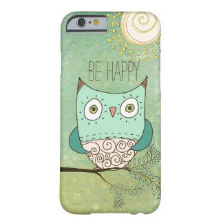 Sea búho bohemio retro feliz funda para iPhone 6 barely there