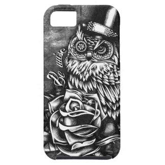 Sea búho sabio del estilo del tatuaje en base de m iPhone 5 Case-Mate cárcasa