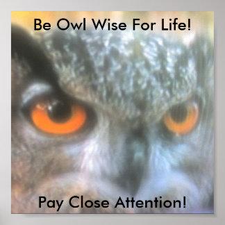¡Sea búho sabio para la vida! , Paga Clos… Póster