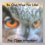 ¡Sea búho sabio para la vida! , Paga Clos… Posters