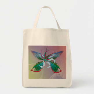 Sea Butterfly fractal on Grocery Bag