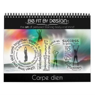 Sea cabido por el calendario del diseño