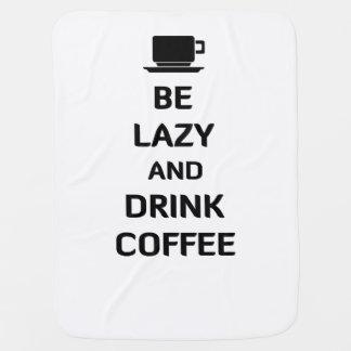 Sea café perezoso y de la bebida mantitas para bebé