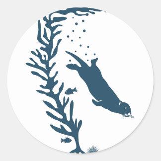 sea California marine otter forest kelp ocean Etiquetas