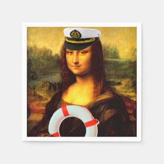 Sea Captain Mona Lisa Napkin