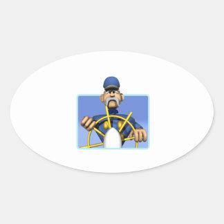 Sea Captain Oval Sticker