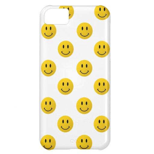 Sea caras sonrientes felices, tan felices funda para iPhone 5C