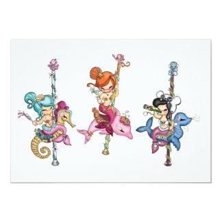 Sea Carousel Card Custom Invitation