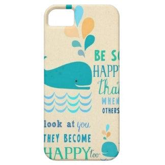 ¡Sea caso feliz del iPhone 5 de la ballena! Funda Para iPhone 5 Barely There