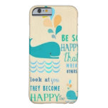 ¡Sea caso feliz del iPhone 6 de la ballena! Funda De iPhone 6 Barely There