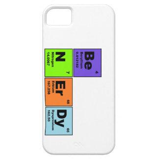 Sea caso Nerdy de IPhone de la ciencia Funda Para iPhone 5 Barely There