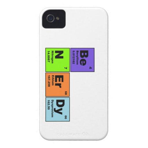 Sea caso Nerdy de IPhone de la ciencia iPhone 4 Case-Mate Coberturas