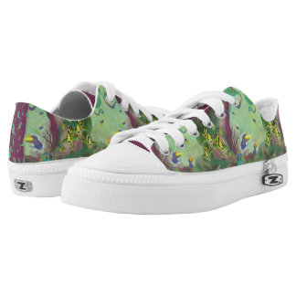 Caving canvas shoes printed shoes zazzle for Fish tennis shoes
