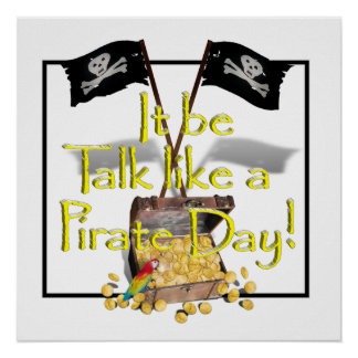 """Sea """"charla como día de un pirata"""" poster"""