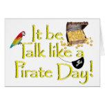 ¡Sea charla como un día del pirata! Felicitaciones