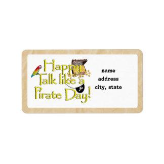 ¡Sea charla como un día del pirata Imagen del dis Etiquetas De Dirección