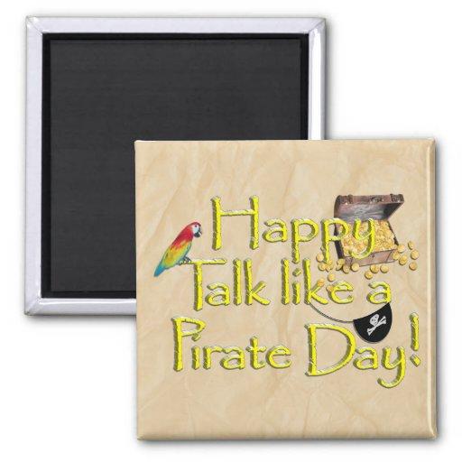 ¡Sea charla como un día del pirata! Imagen del dis Imán Para Frigorifico
