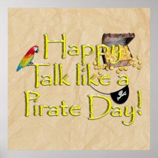 ¡Sea charla como un día del pirata! Imagen del dis Poster