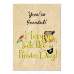 ¡Sea charla como un día del pirata! Imagen del Invitación 12,7 X 17,8 Cm