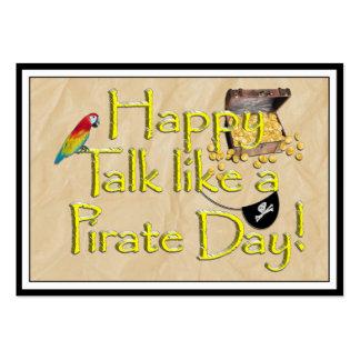 ¡Sea charla como un día del pirata! Imagen del Tarjetas De Visita Grandes
