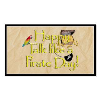 ¡Sea charla como un día del pirata! Imagen del Tarjetas De Visita