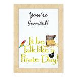 ¡Sea charla como un día del pirata! Invitacion Personalizada