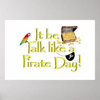 ¡Sea charla como un día del pirata! Impresiones