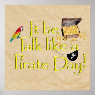 ¡Sea charla como un día del pirata! Poster