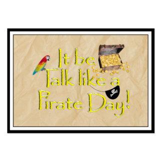 ¡Sea charla como un día del pirata! Tarjetas De Visita Grandes