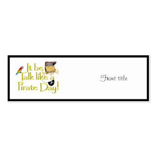 ¡Sea charla como un día del pirata! Tarjetas De Visita Mini
