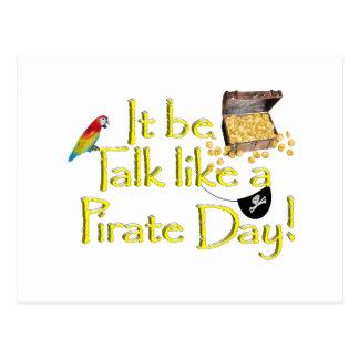 ¡Sea charla como un día del pirata! Postales