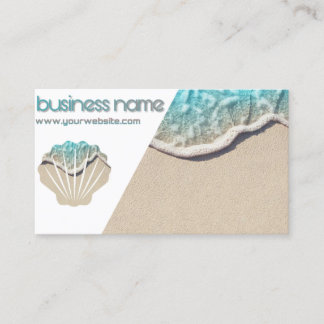 Sea chart visits business card