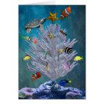 Sea Christmas Tree Card