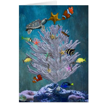 Christmas Themed Sea Christmas Tree Card
