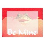 Sea cierre de la rana de la mina encima de la invitación 12,7 x 17,8 cm