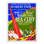 Sea Cliff and Worlds Fair vintage promotional Poster