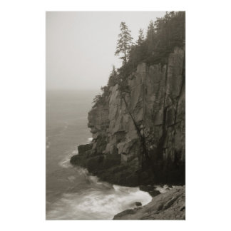 Sea Cliff at Quoddy Head, Maine Poster