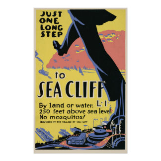 Sea Cliff Long Island No Mosquitos Poster