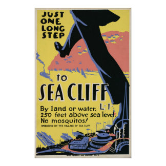 Sea Cliff New York Advertisment Poster