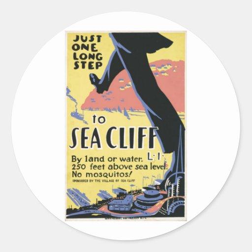 Sea Cliff New York Advertisment Poster Sticker