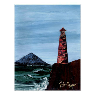 SEA CLIFF RESIDENT (lighthouse) ~ Poster