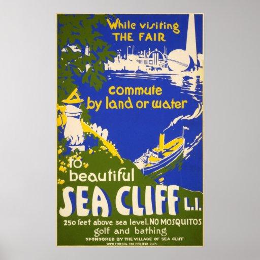 Sea Cliff - World Fair - Vintage Travel Poster