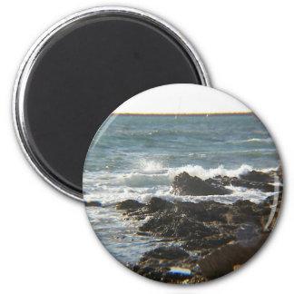 Sea Cliffs 2 Inch Round Magnet