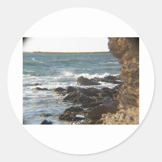 Sea Cliffs Classic Round Sticker