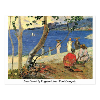 Sea Coast By Eugene Henri Paul Gauguin Postcard