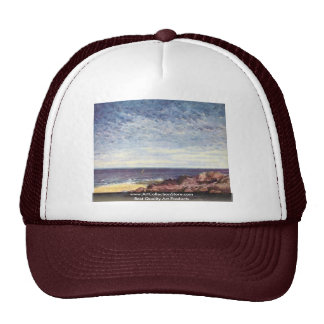 Sea Coast Of Normandy By Courbet Gustave Trucker Hat