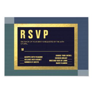 Sea Colors + Gold Foil RSVP | WEDDINGS Card
