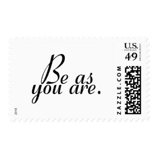 Sea como usted es sello postal
