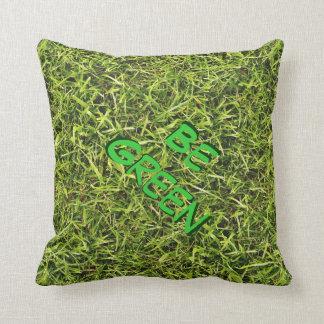 Sea conciencia ambiental de la hierba verde cojines